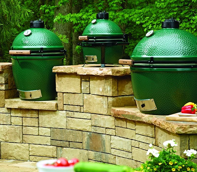 Big Green Egg in Jackson Hole, Wyoming
